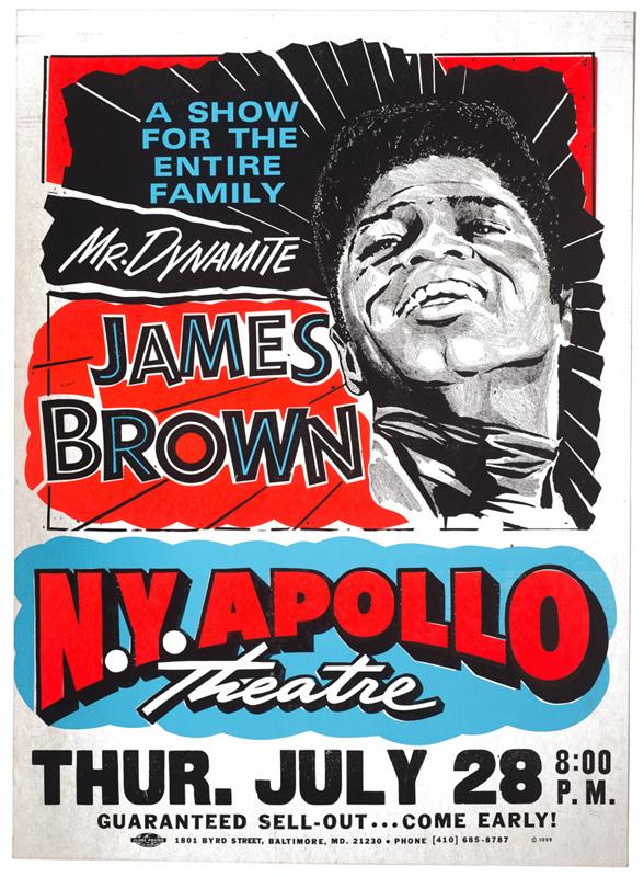 Globe Poster - James Brown Mr. Dynamite Concert Poster