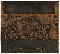 Globe Poster - carnival printing poster - copper black plate