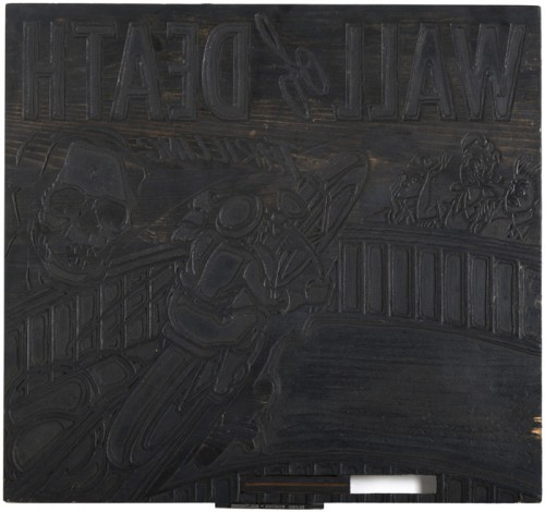 Globe Poster - Wall of Death - Black plate