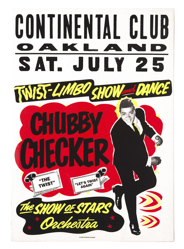 Globe Poster - Chubby Checker Concert Poster