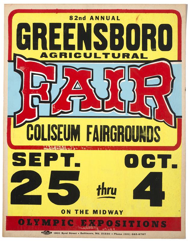 Globe Poster - Greensboro Agricultural Fair - Poster