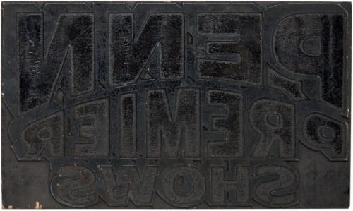 Globe Poster - Penn Premier Circus - Blocks