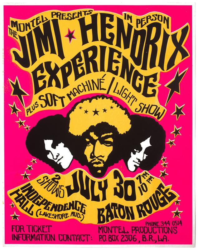 Globe Poster - Jimi Hendrix Experience Concert poster