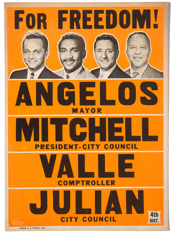 Peter Angelos, Clarence Michell III, Francis Valle and Emerson R. Julian – Political Poster