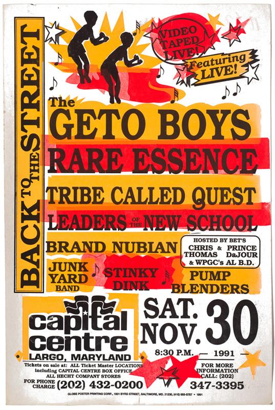 Globe Poster - Geto Boys etc. - Concert Poster