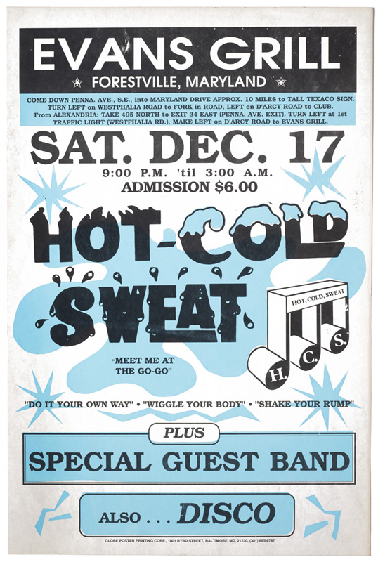Hot Cold Sweat – Concert Poster