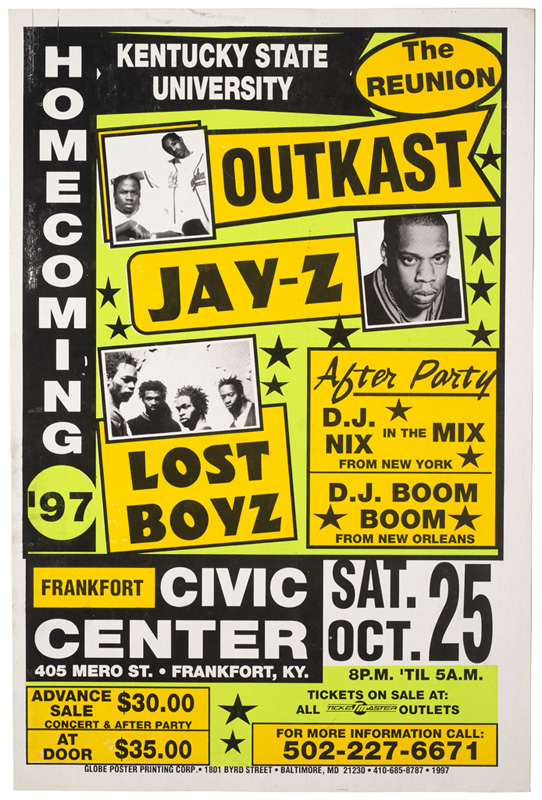 Globe Poster - Homecoming '97 with Outkast, Jay-Z, Lost Boyz