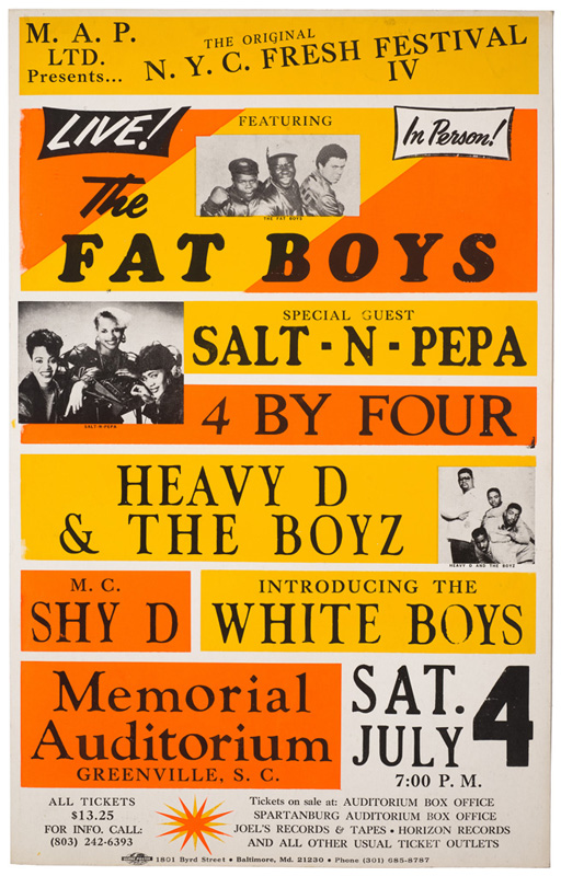 Globe Poster - Fat Boys, Salt-N-Pepa, Heavy D and others - Concert Poster