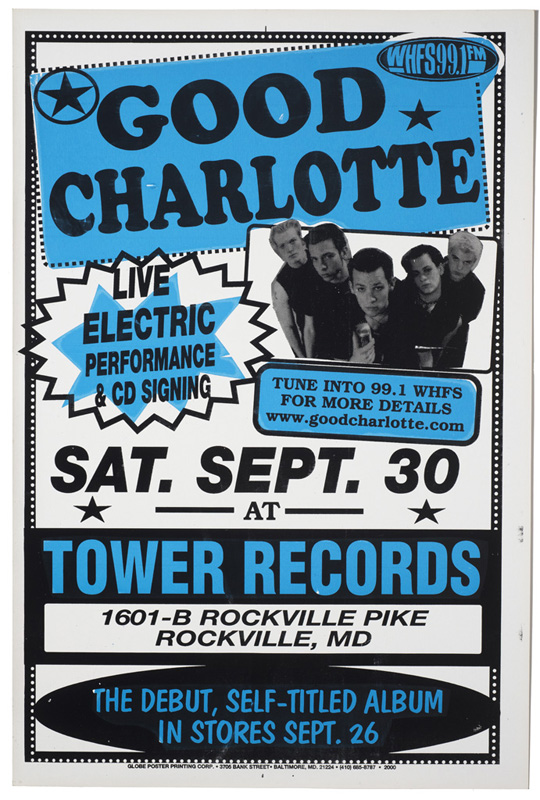 Globe Poster - Good Charlotte - Debut Poster