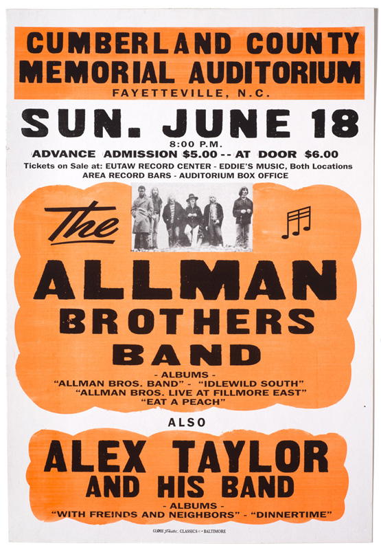 Globe Poster - The Allaman Brothers Band - Concert poster