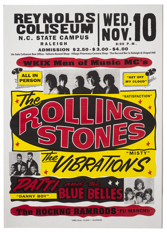 Globe Poster - The Rolling Stones - Concert poster