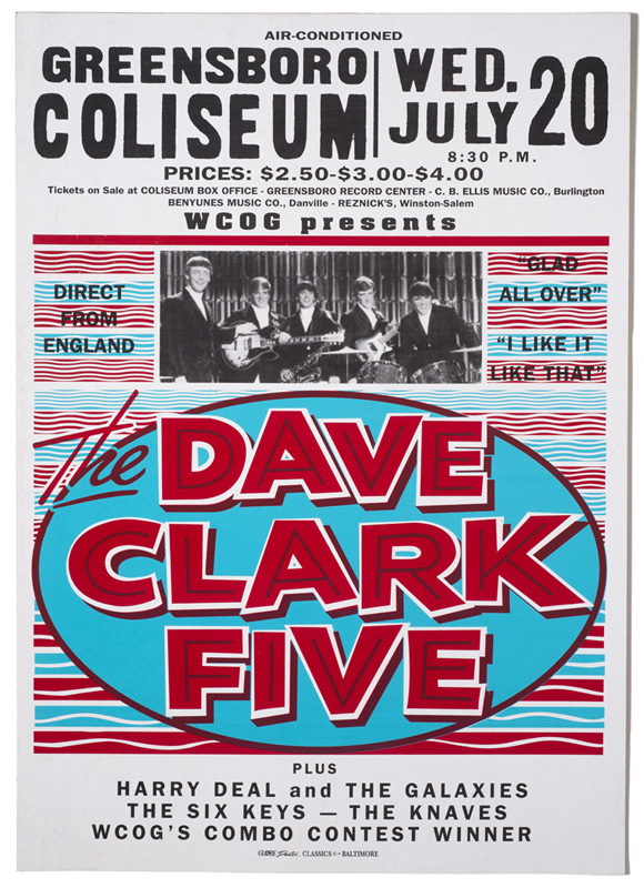 Globe Poster - The Dave Clark Five - Concert poster