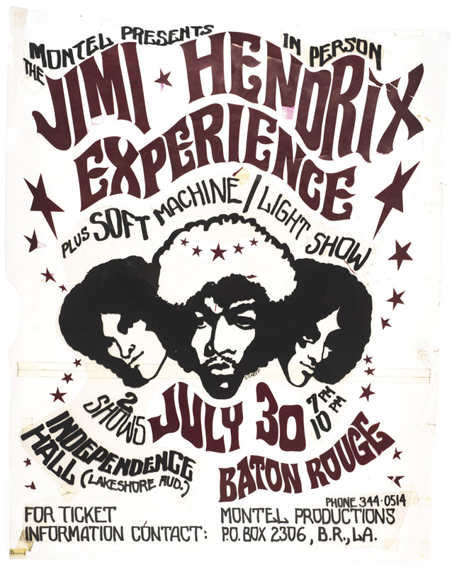 Jimi Hendrix Experience – Handcut Rubylith