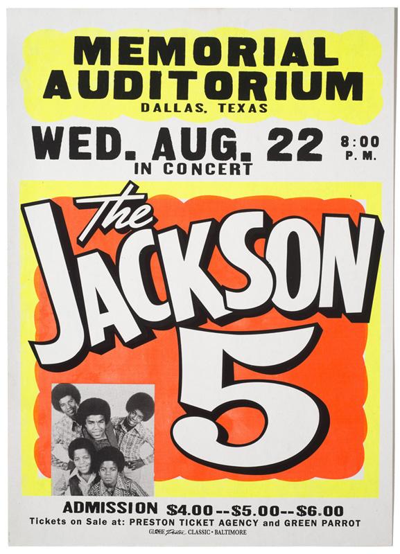 Globe Poster - The Jackson 5 Concert Poster