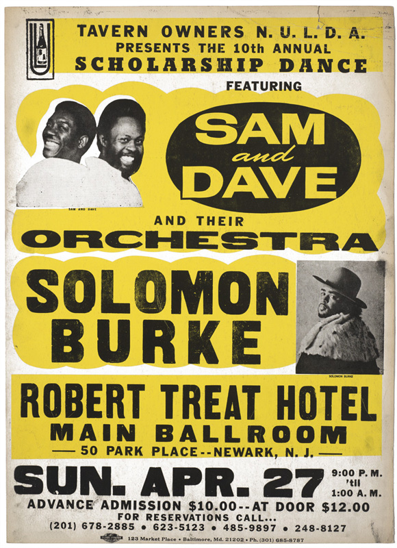 Globe Poster - Sam and Dave Concert Poster