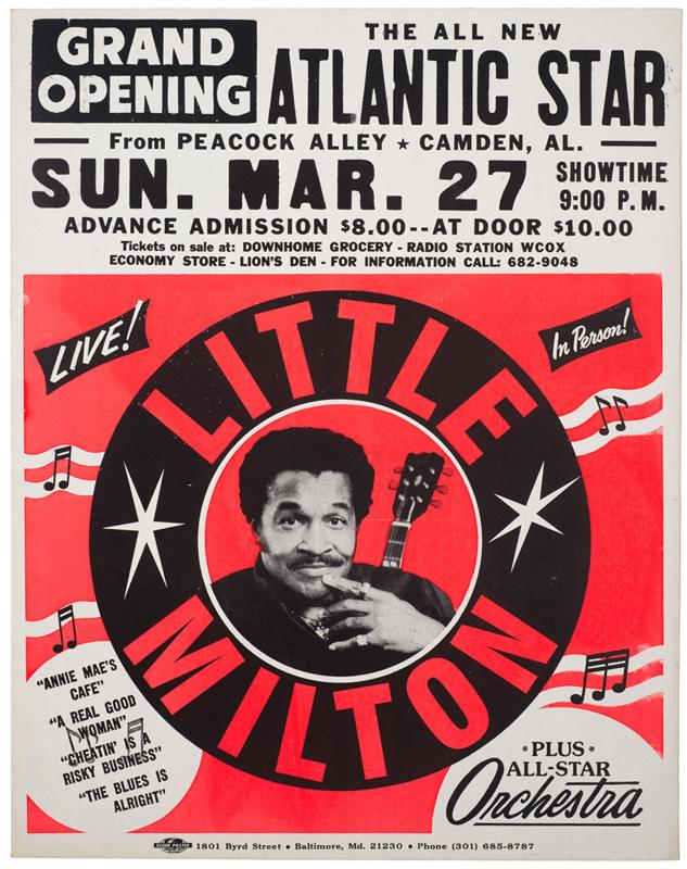 Globe Poster - Little Milton Concert Poster