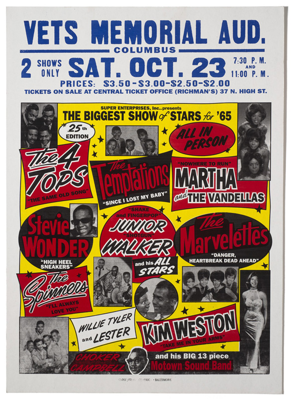 Globe Poster - The Biggest Show of Stars, 1965 - Concert Poster