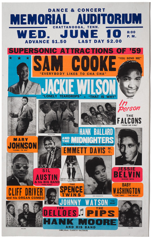 Globe Poster - Supersonic Attractions of '59 - Concert Poster