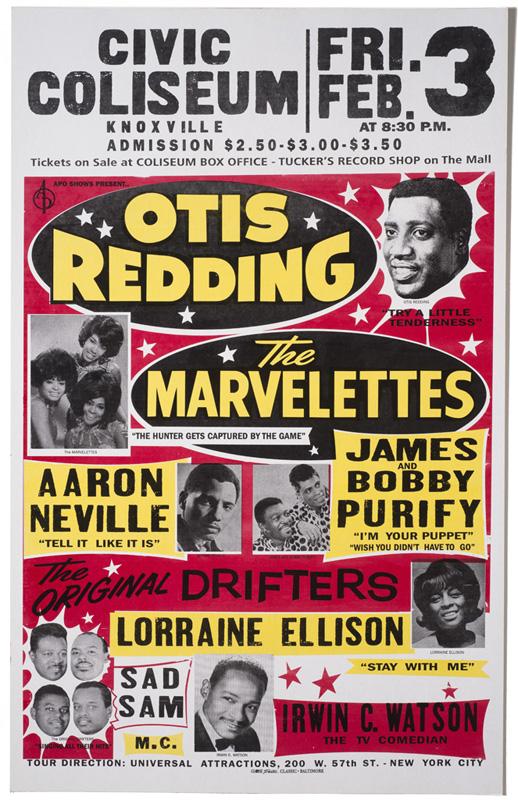 Globe Poster - Otis Redding - Concert poster