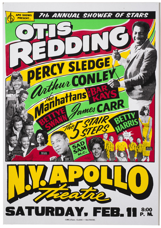 Globe Poster - Otis Redding, Percy Sledge and others at the Apollo
