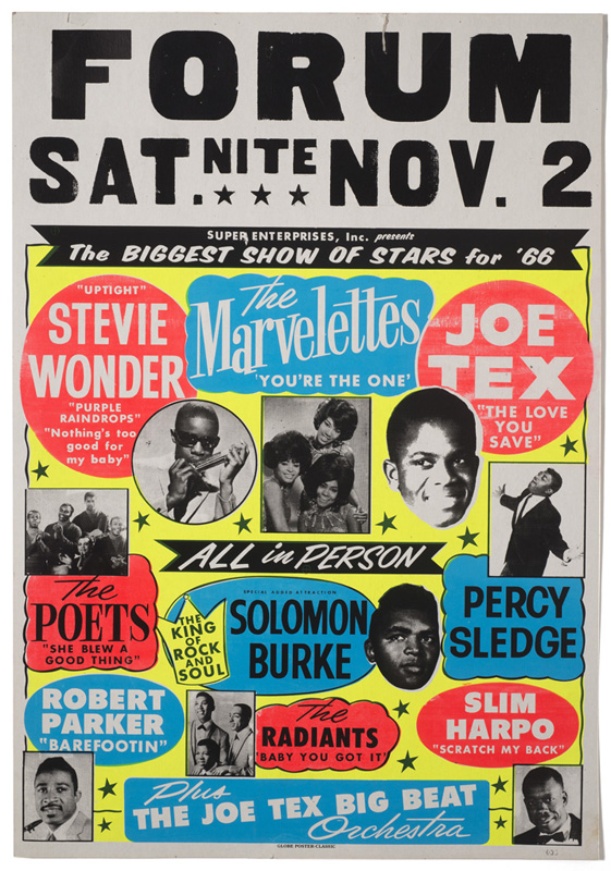 Globe Poster - Show of Stars '66 - Concert Poster