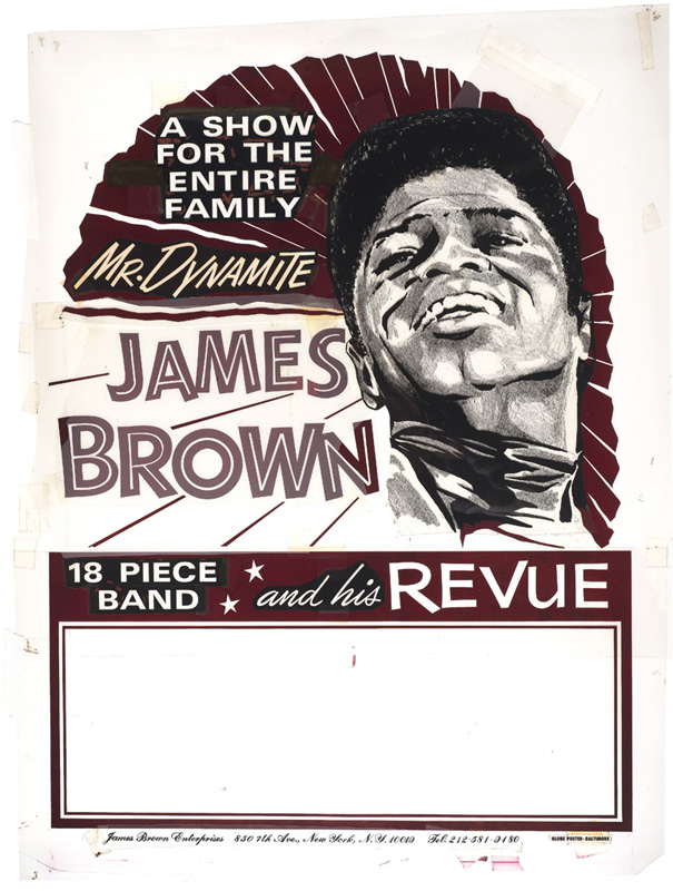"Globe Poster - James Brown ""Mr. Dynamite"" Hand-cut rubylith"