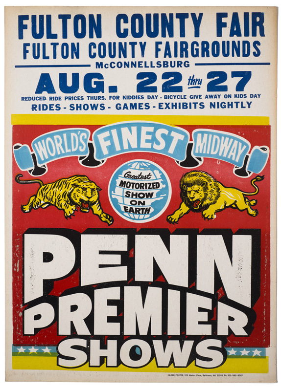 Globe Poster - Penn Premier Circus - Poster