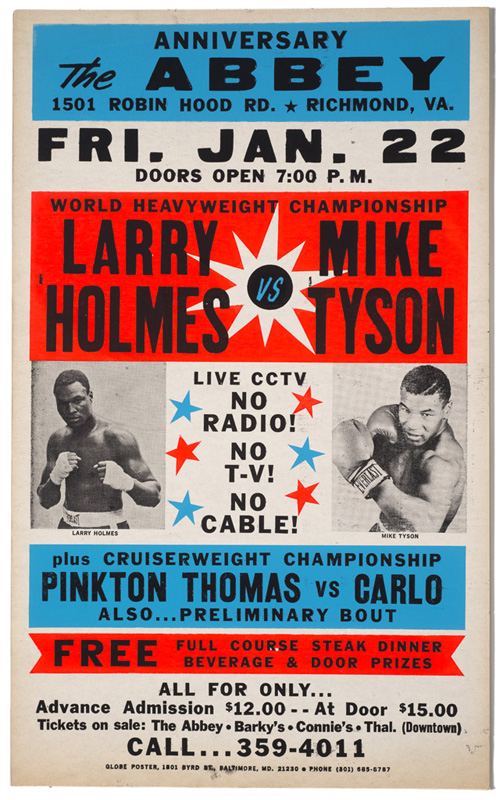 Larry Holmes vs. Mike Tyson – Boxing Poster