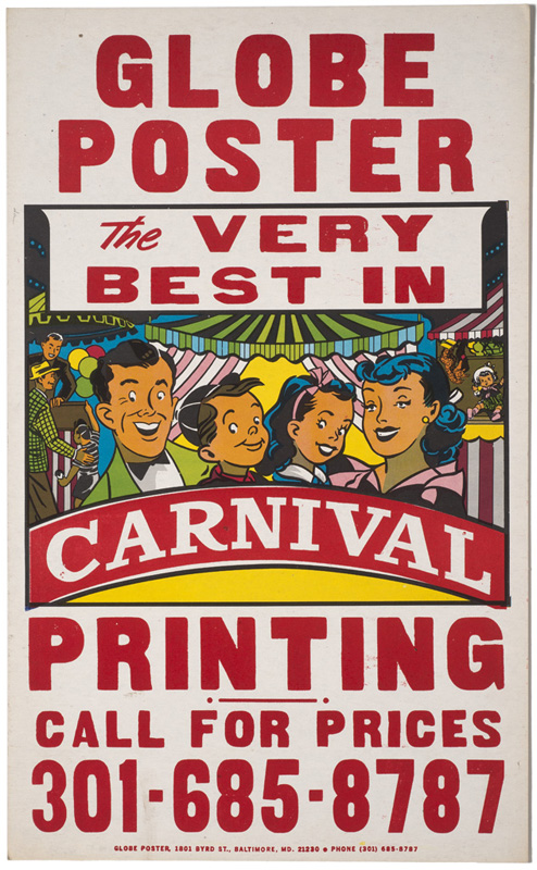 Globe Poster - carnival printing poster