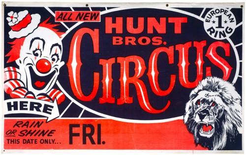Hunt Bros. Circus – Poster