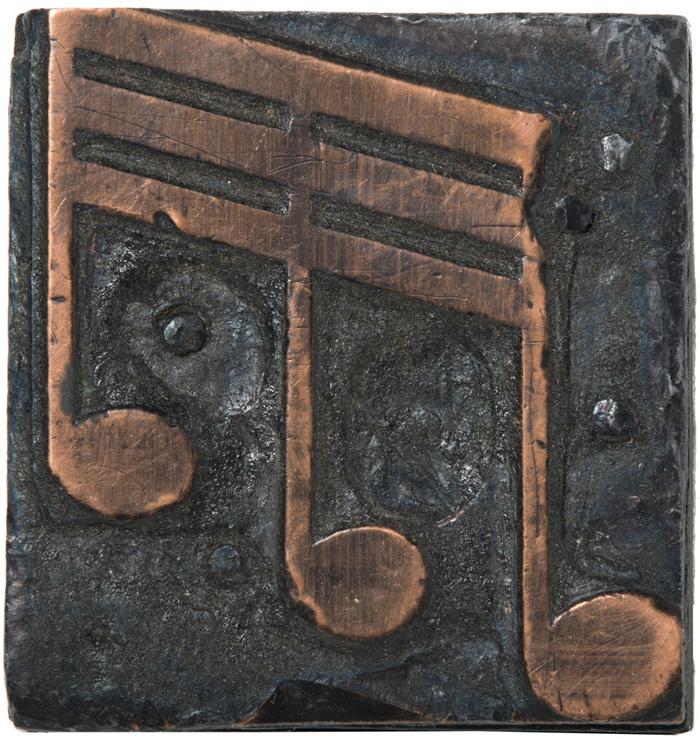 Globe Poster - Little Milton, Music note copper image cut