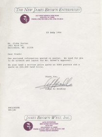 James Brown, Godfather of Soul Returns – Request Letter