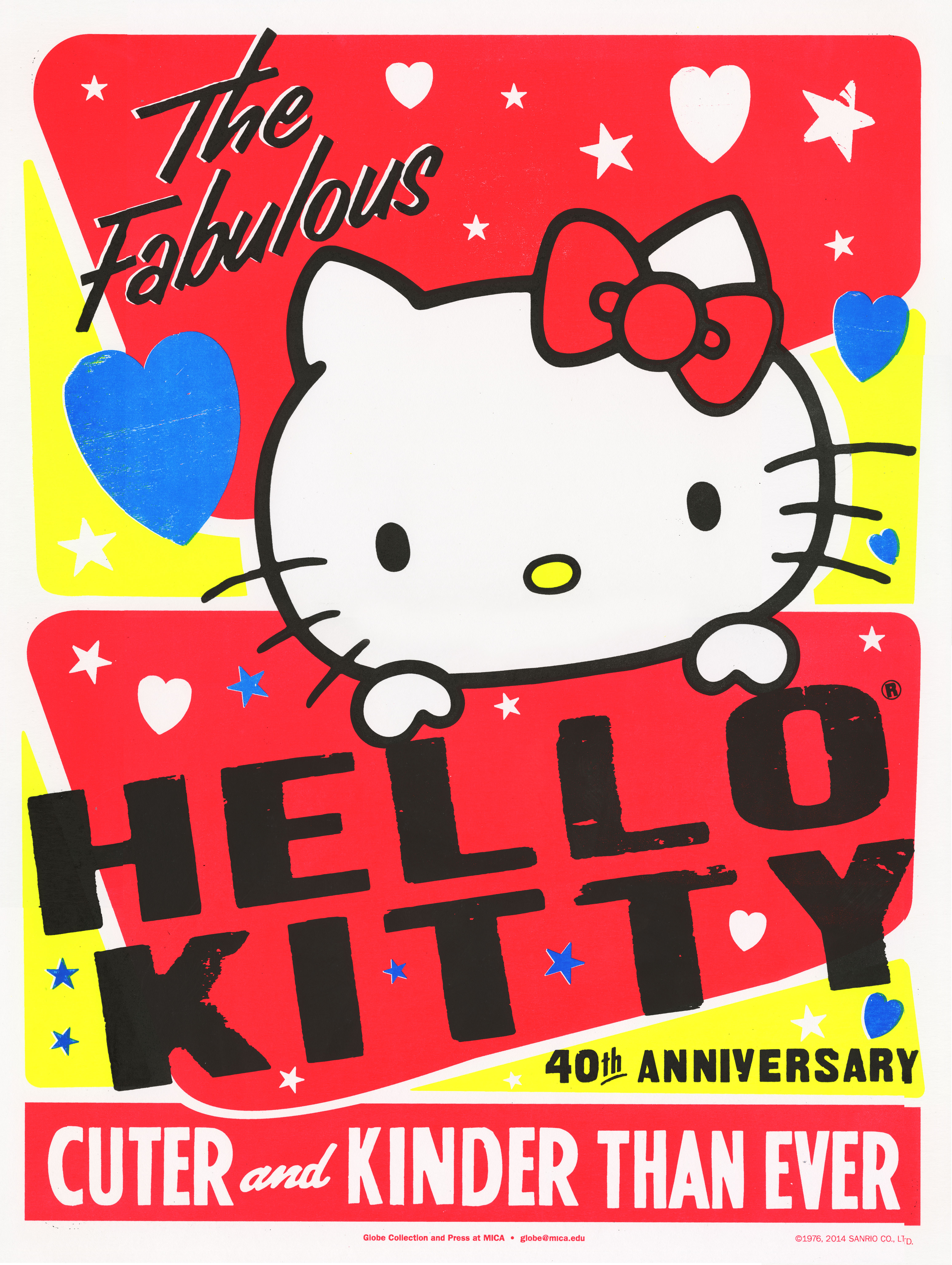 Globe Poster - Hello Kitty 40th Anniversary