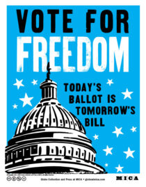 Vote for Freedom Poster Download by Globe Poster and Press at Mica
